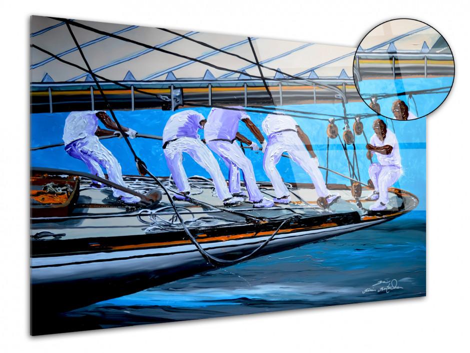 Tableau plexiglass reproduction peinture Rémi Bertoche Matelots