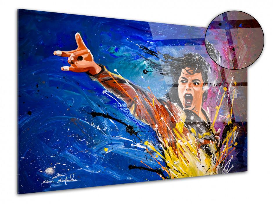 Tableau reproduction peinture sur plexi Michael Jackson
