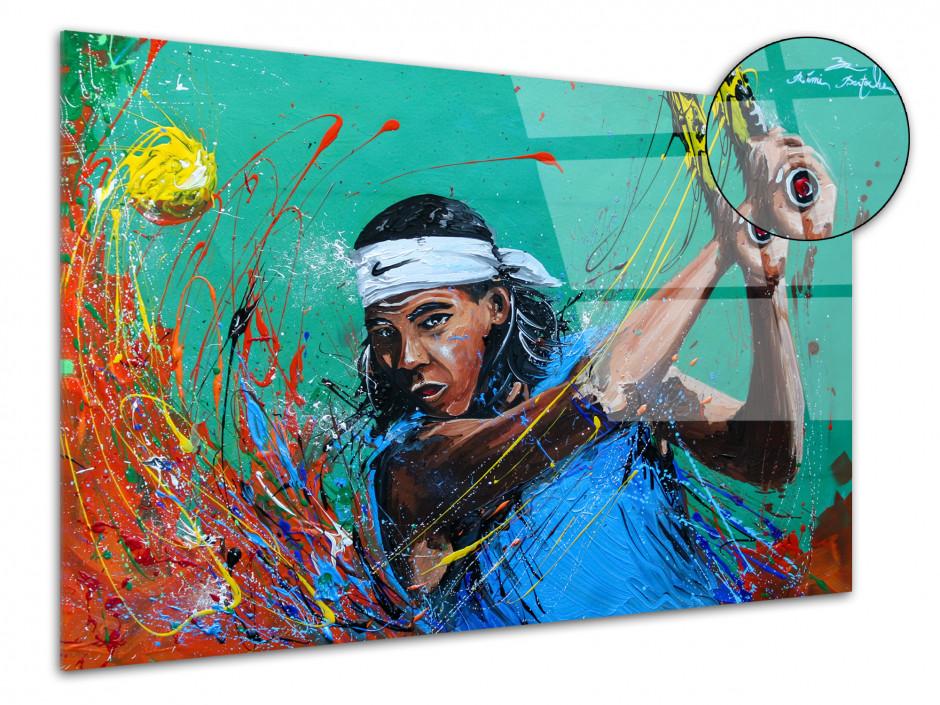 Tableau reproduction peinture sur plexiglas Tennisman