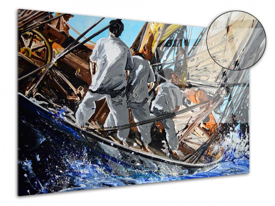 Tableau Rémi Bertoche reproduction sur plexiglas Old Race