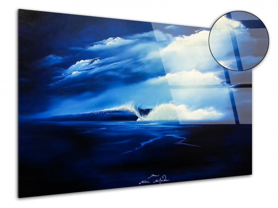 Tableau décoratif sur plexiglas Perfect Wave peinture Rémi Bertoche