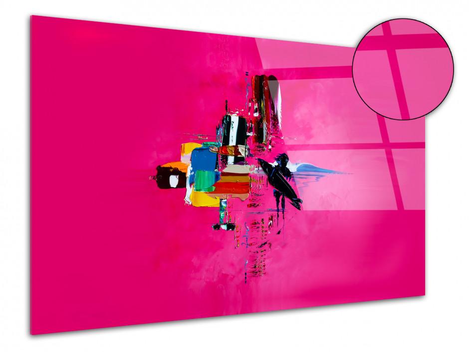 Tableau Pink Surf Abstract reproduction tableau plexiglass Rémi Bertoche