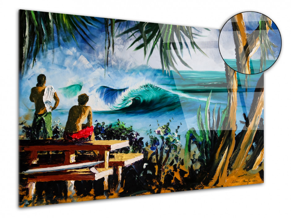 Tableau Pipe reproduction peinture Rémi Bertoche sur plexiglas imprimée