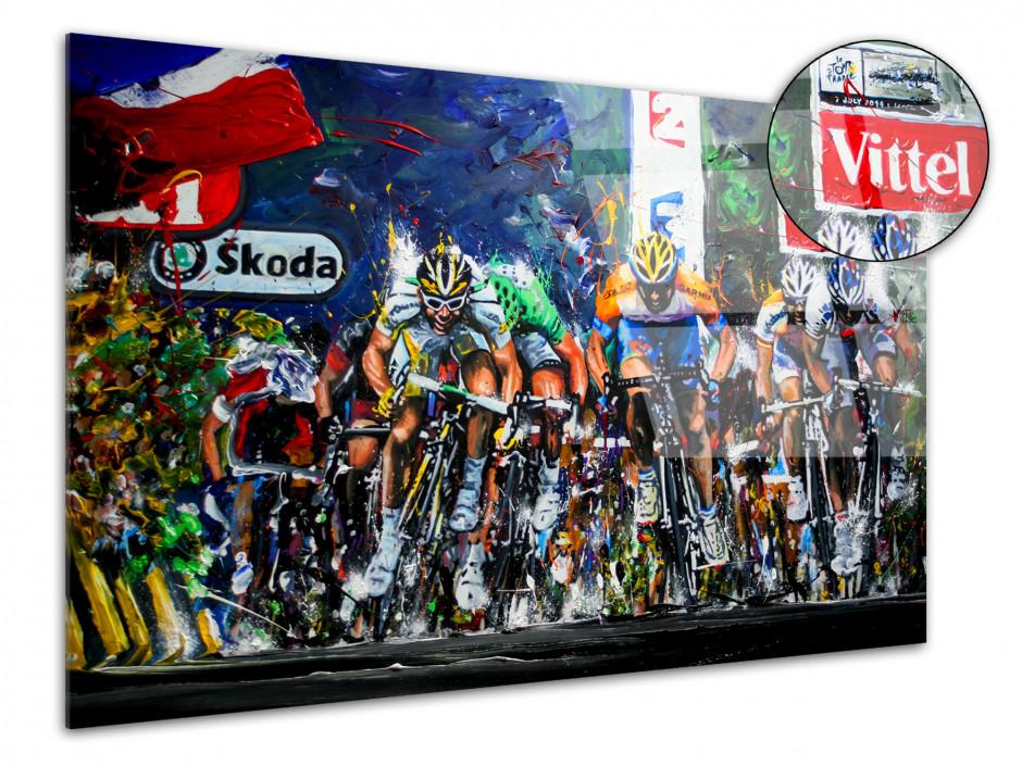 Tableau plexi Tour de France reproduction peinture Artiste Rémi Bertoche
