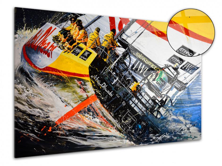 Reproduction peinture Rémi Bertoche sur plexiglas imprimée Ocean Race