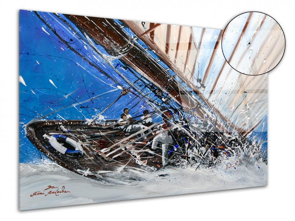 Reproduction peinture Rémi Bertoche sur plexiglas Yacht Show