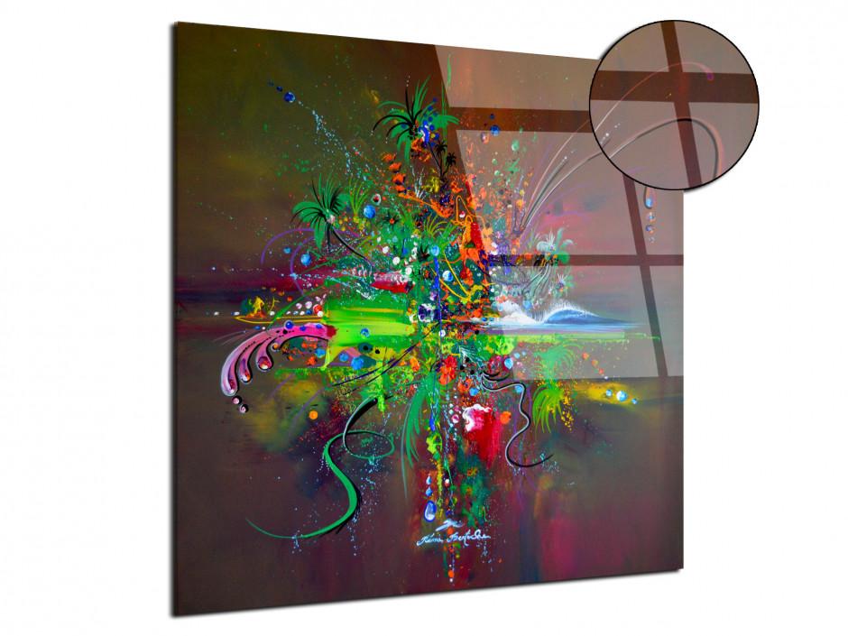 Tableau plexiglas décorative reproduction peinture abstract jungle