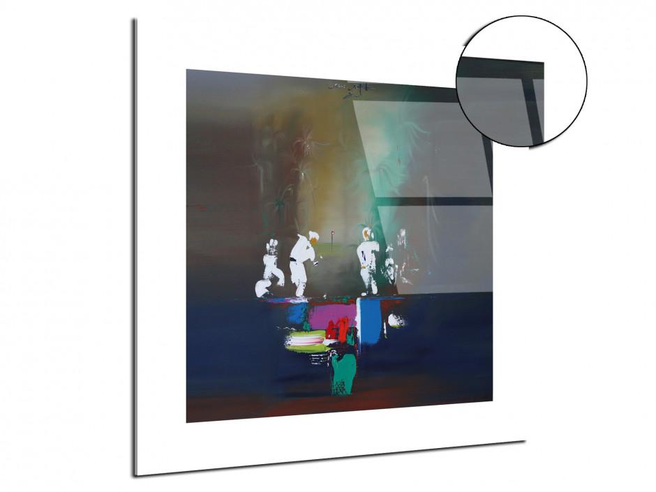 Tableau décoratif plexiglass peinture Rémi Bertoche golf abstract