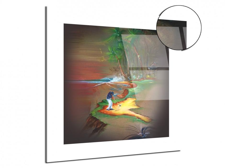 Tableau golf ambiance reproduction Peinture Rémi Bertoche sur plexi