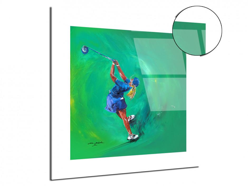 Tableau décoratif Golf Girl reproduction sur plexi peinture Rémi Bertoche