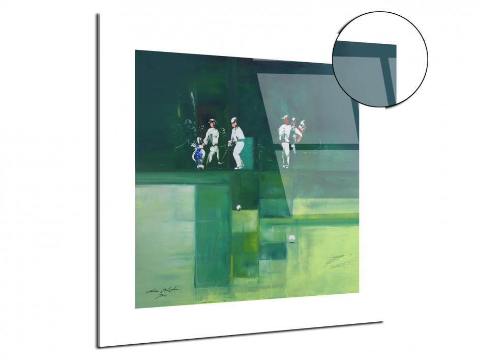 Reproduction tableau Golf Green par Rémi Bertoche sur plexiglas imprimée