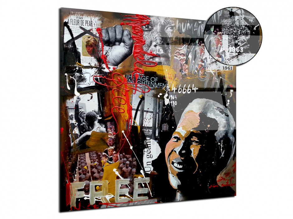 Tableau Humanright par Rémi Bertoche reproduction sur plexiglas