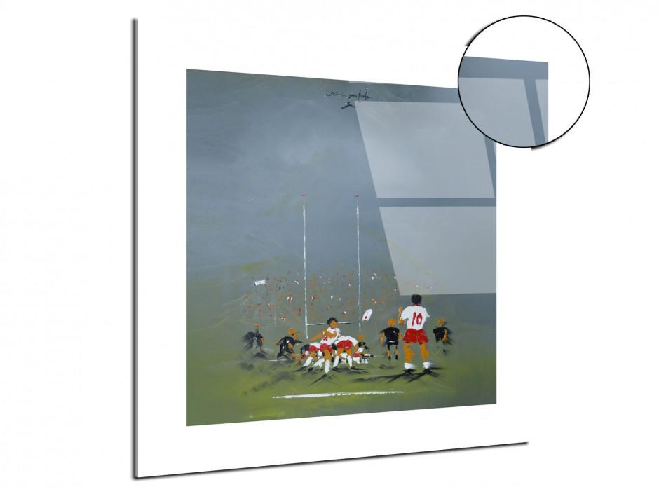 Reproduction tableau Rémi Bertoche sur plexiglas imprimée Rugby