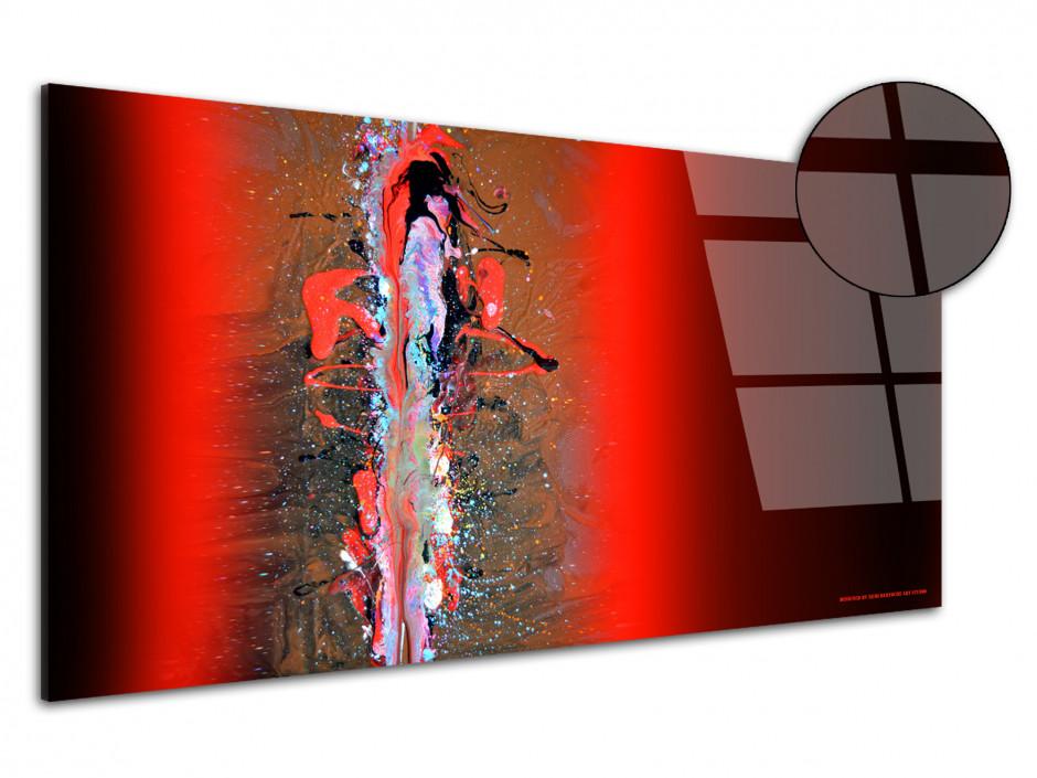 Tableau déco Abstract red and black reproduction sur plexiglas