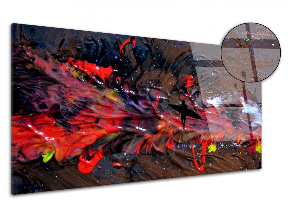 Tableau déco abstract painting reproduction plexiglass Rémi Bertoche