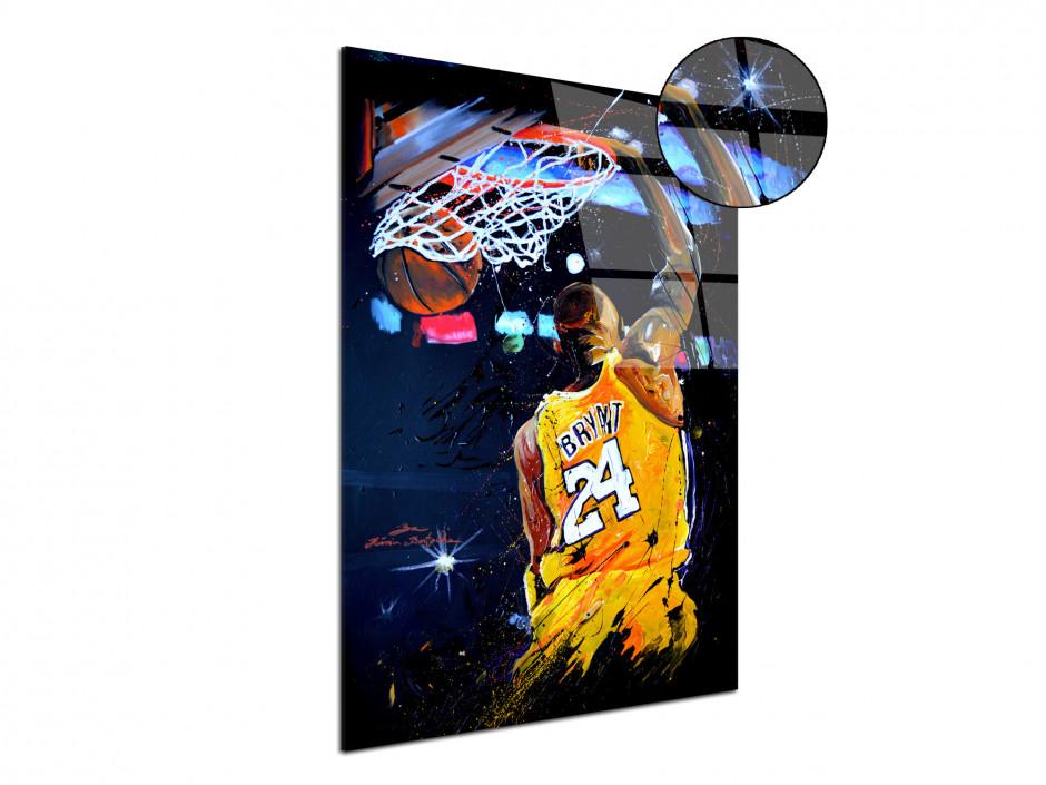 Reproduction tableau Rémi Bertoche basket Lakers sur plexiglas imprimée