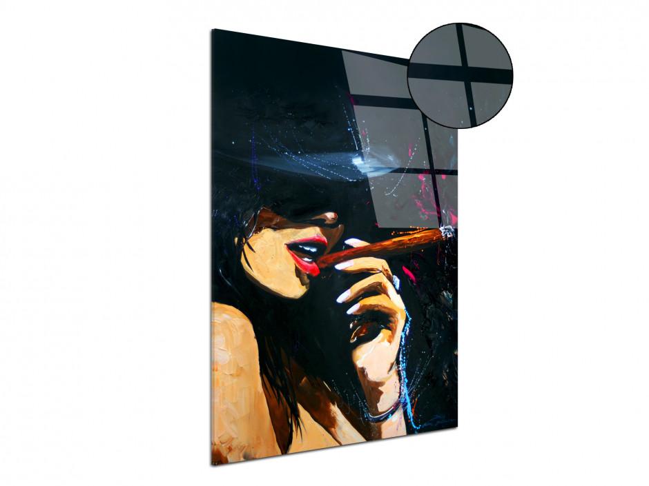 Tableau déco reproduction sur plexiglas imprimée Cigar Girl