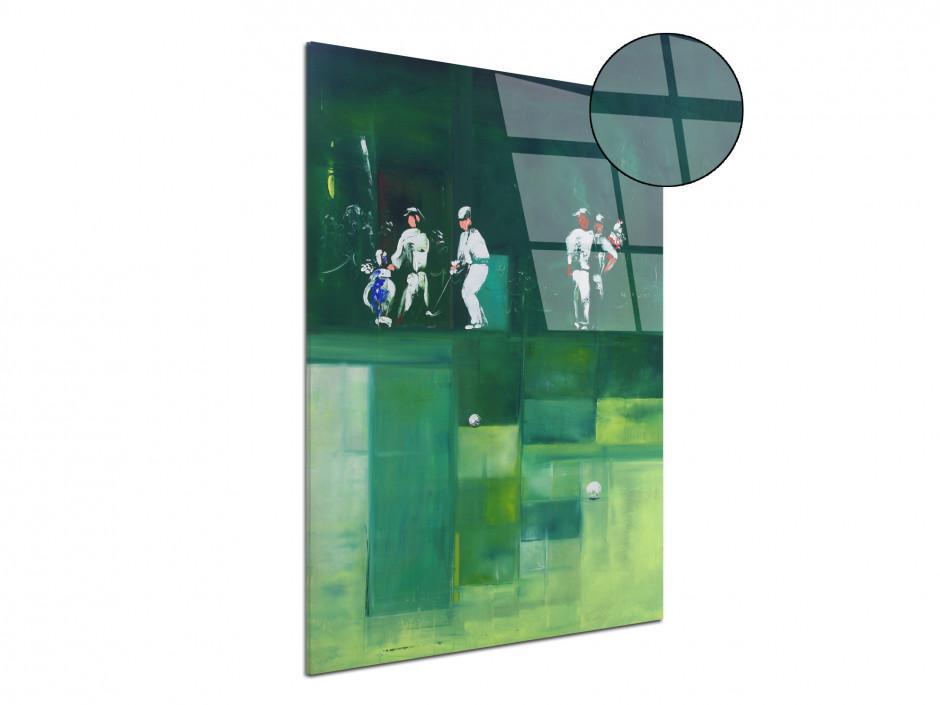 Tableau Rémi Bertoche golf abstract Reproduction plexiglas imprimée