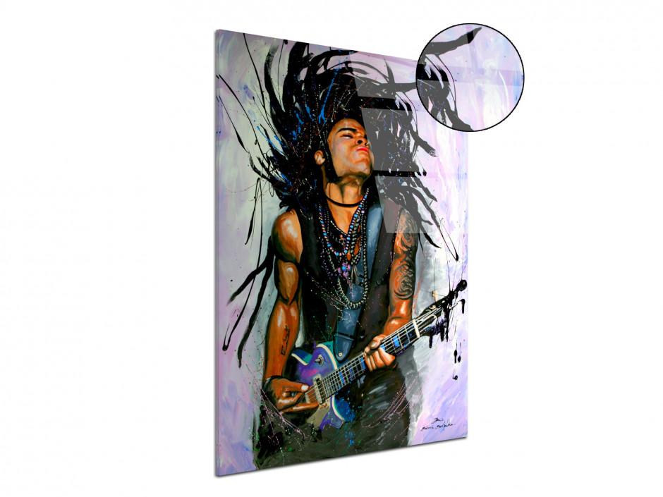 Tableau reproduction peinture Lenny Kravitz sur plexiglas imprimée