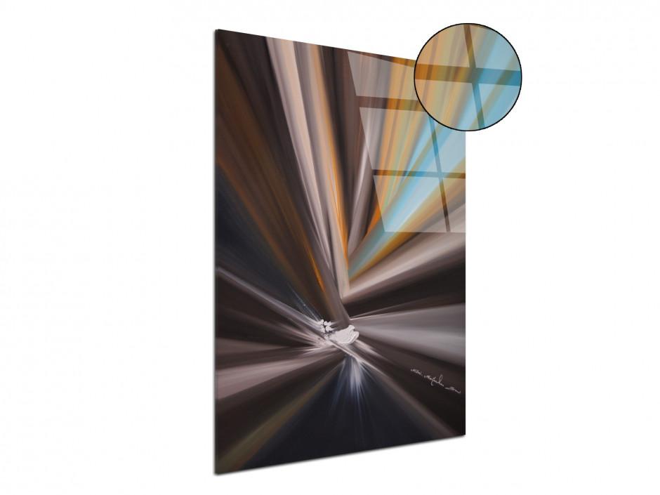 Reproduction peinture sur plexiglas imprimée Lignes de couleurs