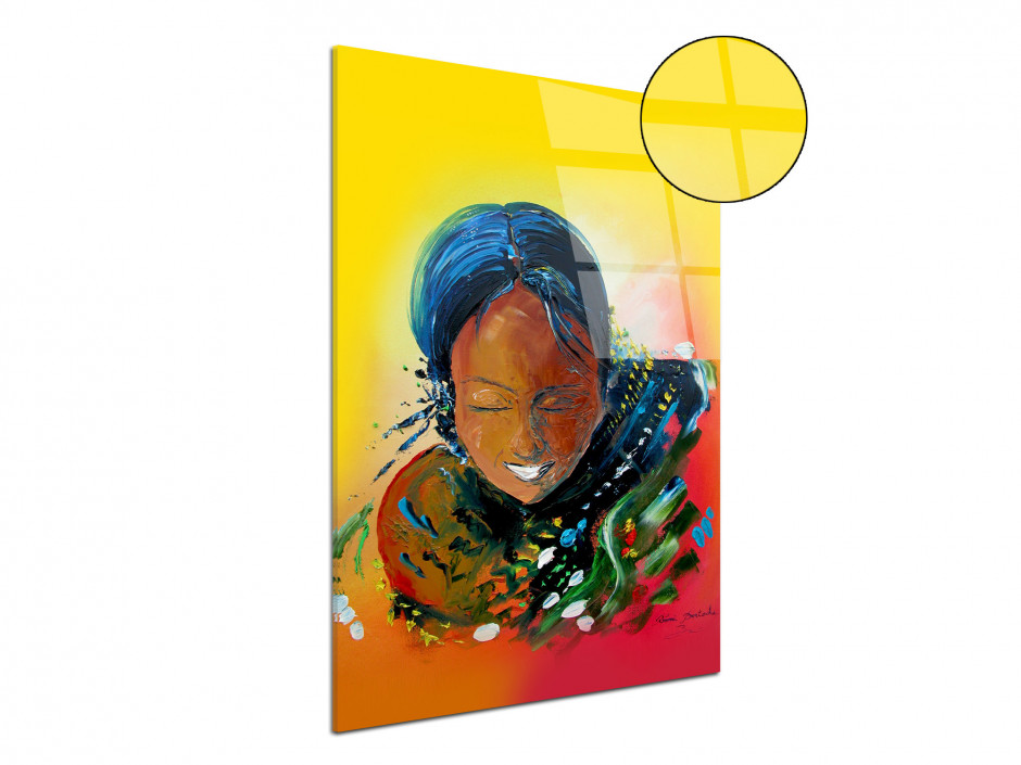 Tableau peinture Rémi Bertoche Tahiti girl reproduction sur plexiglas