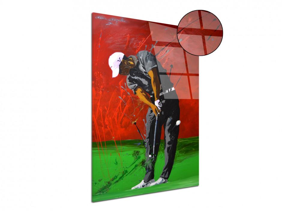 Tableau décoratif reproduction sur plexiglas imprimée Golfeur