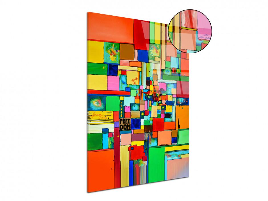 Tableau Freedom reproduction peinture sur plexiglass Rémi Bertoche