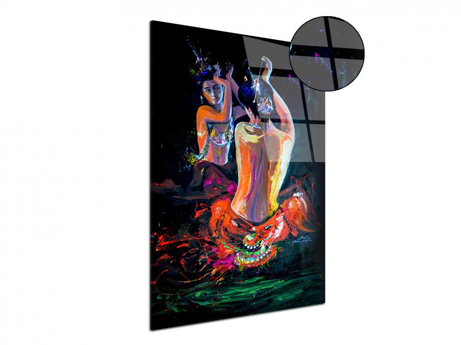 Reproduction tableau plexiglas India Girl par Rémi Bertoche