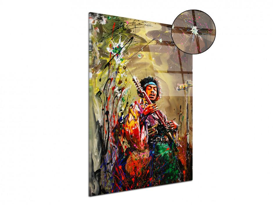 Reproduction tableau Rémi Bertoche sur plexiglas imprimée Jimi Hendrix