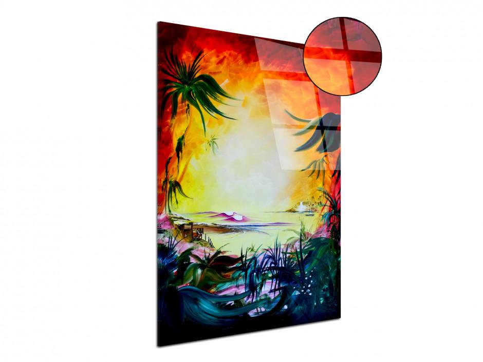 Tableau déco abstract painting reproduction plexiglas Rémi Bertoche