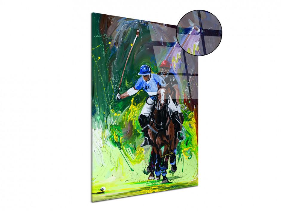 Reproduction tableau artiste Rémi Bertoche sur plexiglas imprimée Polo