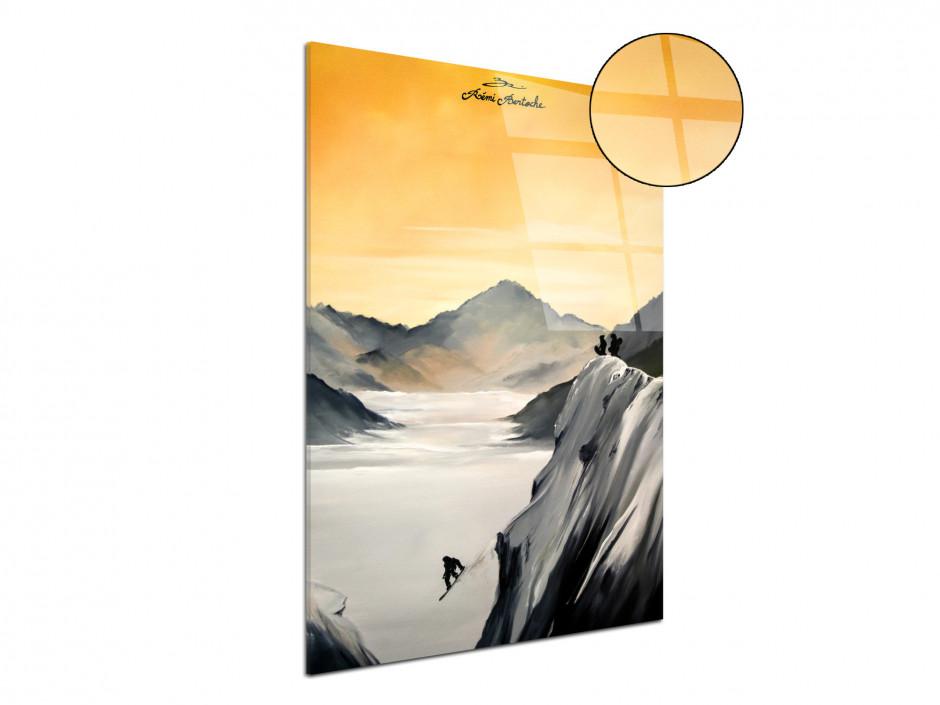 Tableau Snow Session reprodcution peinture sur plexiglas imprimée