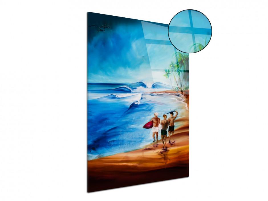 Reproduction tableau Rémi Bertoche surf ambiance en plexiglas imprimée