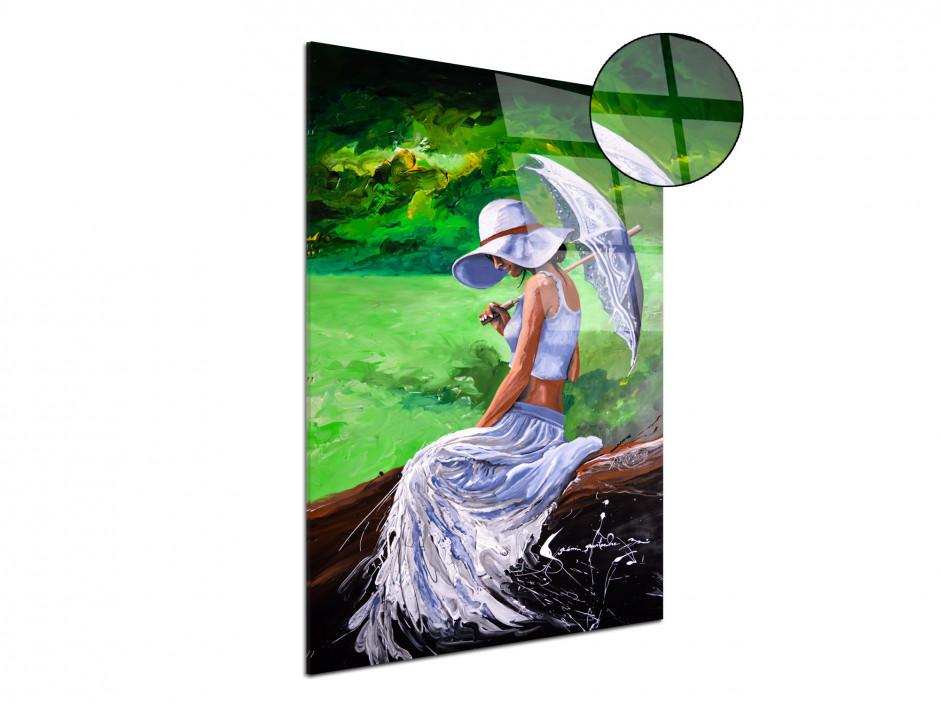 Reproduction peinture Artiste Rémi Bertoche sur plexiglas imprimée Woman in Love