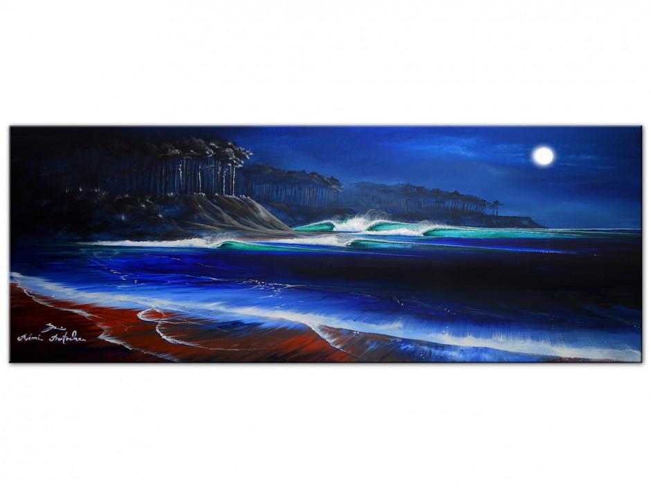 Reproduction tableau sur Dibond Peinture Rémi Bertoche Moonlight Land