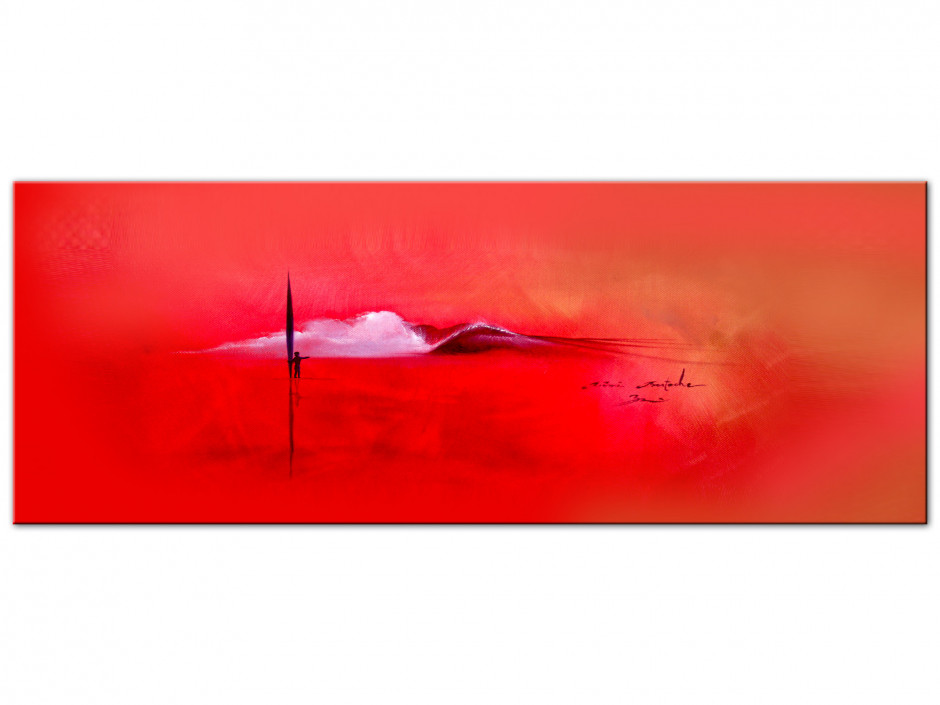 Reproduction tableau Aluminium Red Ambiance