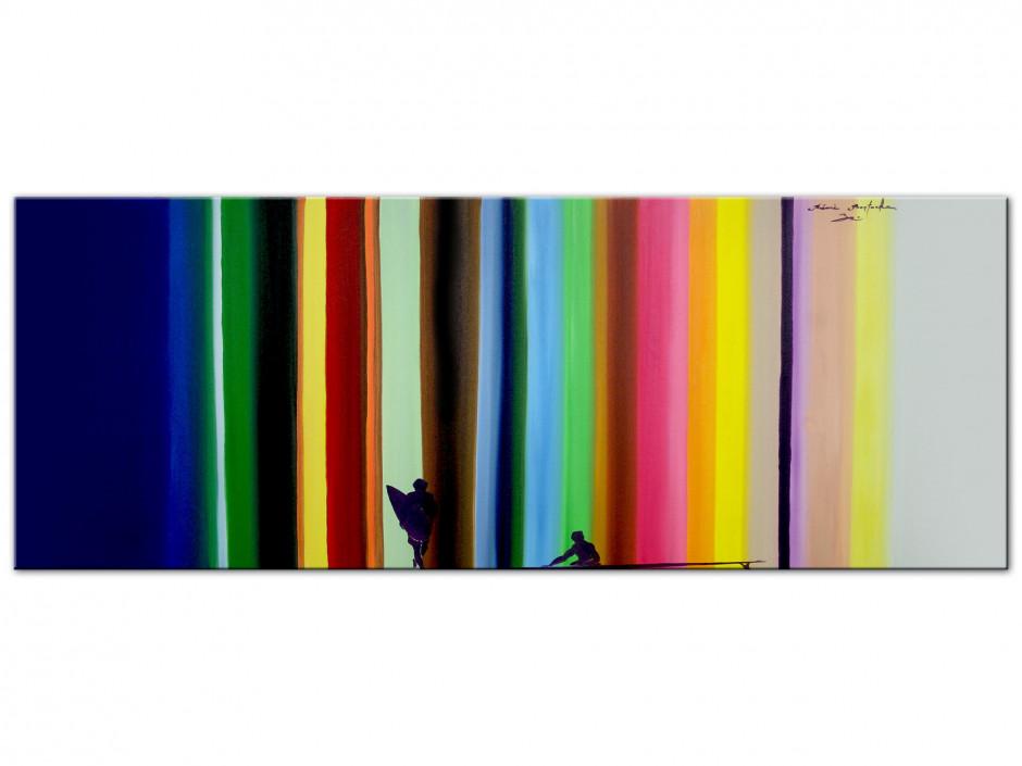 Tableau Aluminiums reproduction peinture Rémi Bertoche Surf the Line