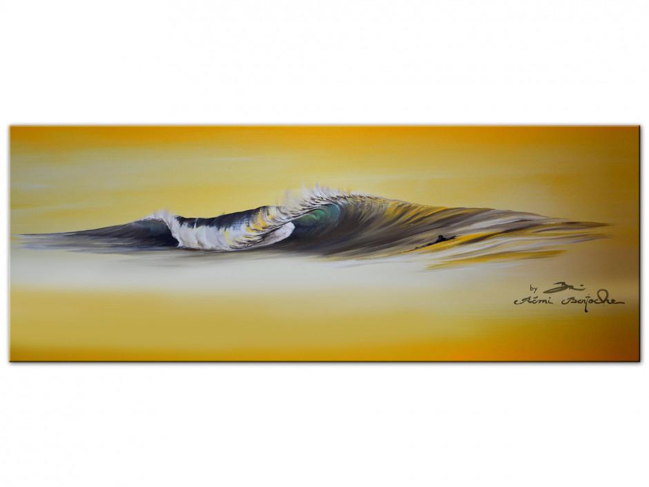 Reproduction tableau Remi Bertoche sur Aluminiums yellow wave
