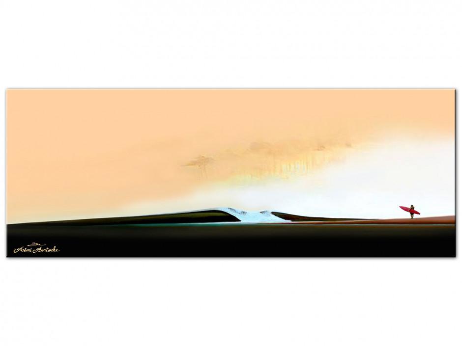 Tableau déco impression sur Aluminium surfeur solitaire