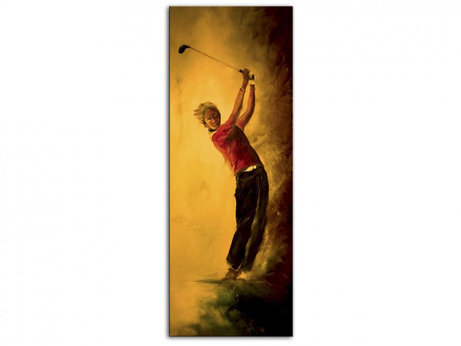 Tableau Aluminium déco reproduction peinture Rémi Bertoche Golf Swing