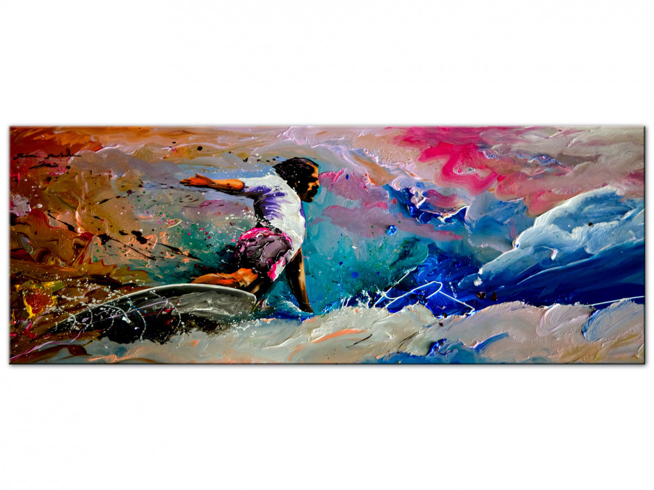 Reproduction peinture sur Aluminium Rémi Bertoche Surf Style