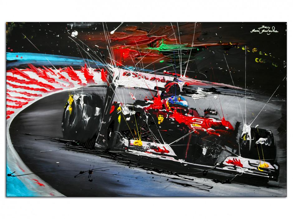 Reproduction peinture Rémi Bertoche sur Aluminium Course F1