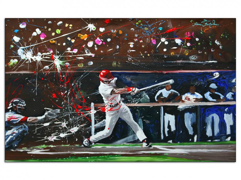 Tableau Aluminium décorative reproduction peinture Baseball
