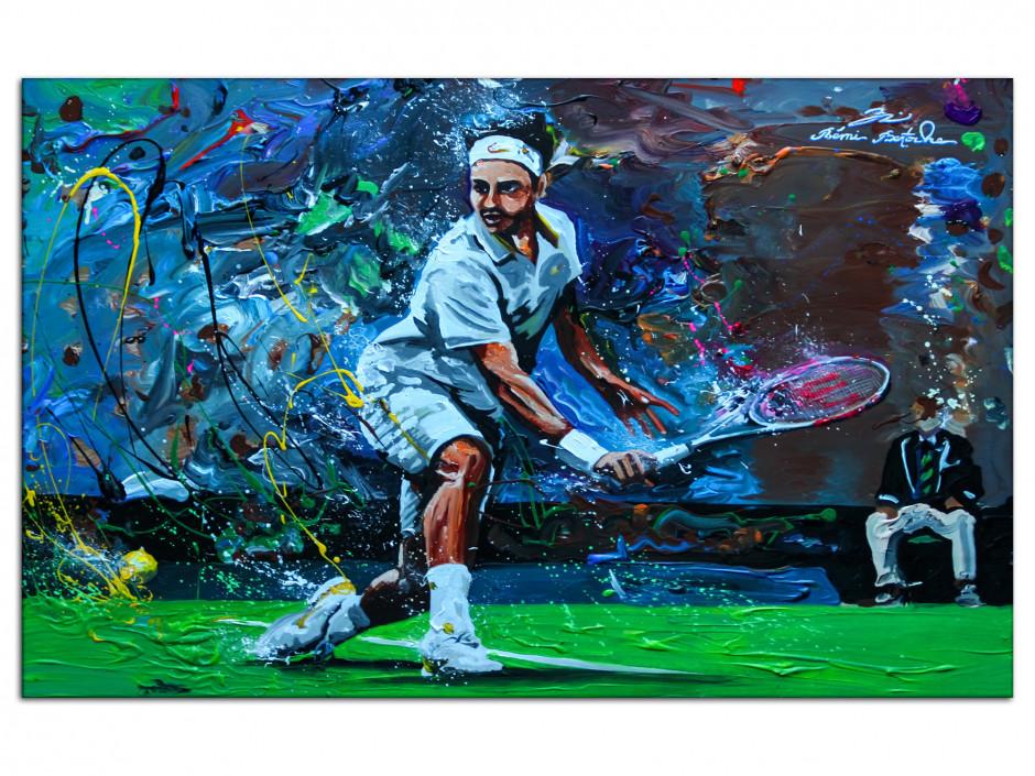 Tableau Aluminium déco murale reproduction peinture Tennisman