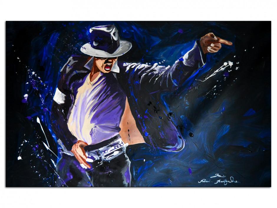 Reproduction peinture sur Aluminium Serie Limitée King of Pop