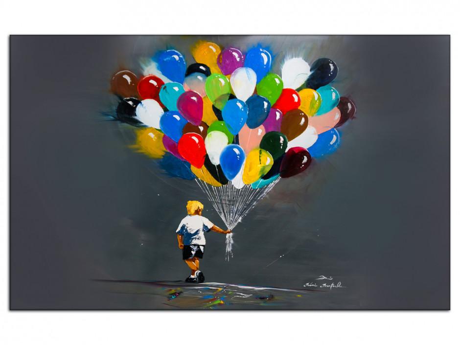 Tableau Rémi Bertoche reproduction sur Aluminium Les Ballons du p'tit