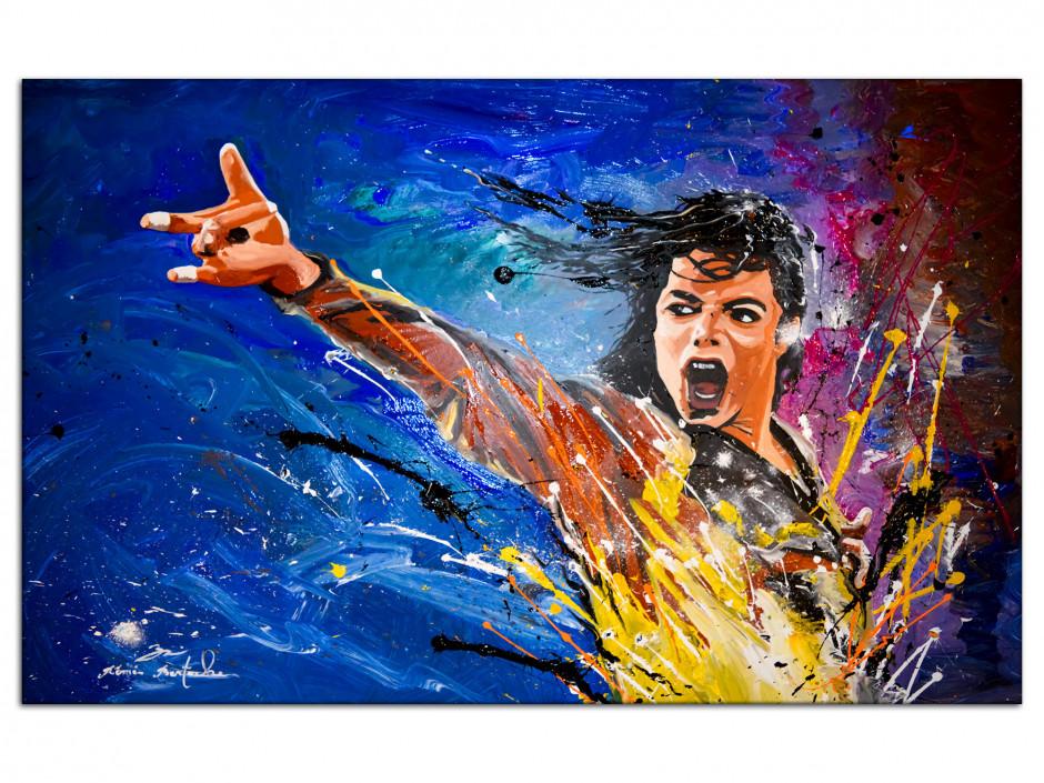 Tableau reproduction peinture sur Dibond Michael Jackson