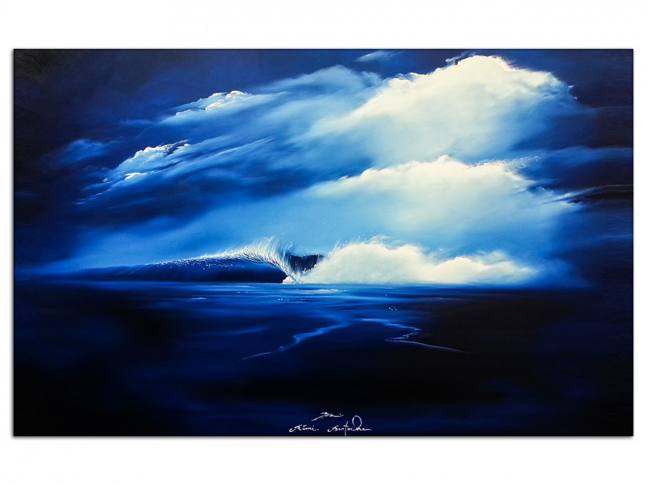Tableau décoratif sur Aluminium Perfect Wave peinture Rémi Bertoche