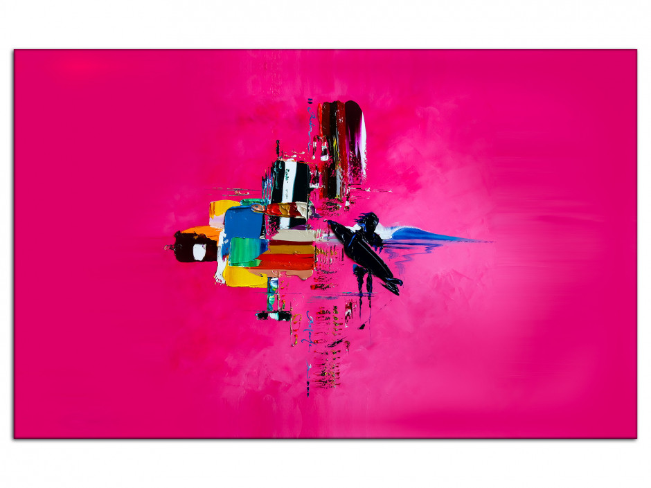 Tableau Pink Surf Abstract reproduction tableau Aluminiums Rémi Bertoche
