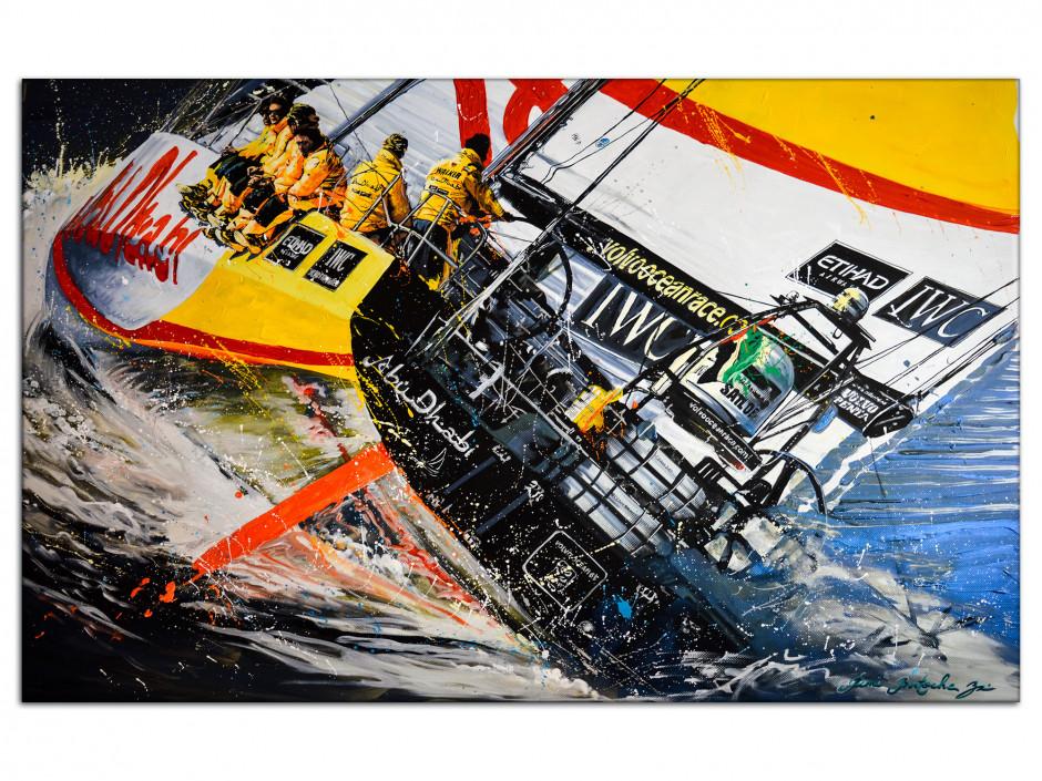 Reproduction peinture Rémi Bertoche sur Aluminium imprimée Ocean Race